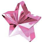 Pink Star Balloon Weights 150g/5oz - 12 PC