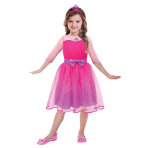 Barbie Princess Girls Costume - Age 3-5 years - 1 PC