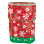 Christmas Snowflake Fling Bins - 5 PC