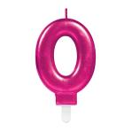 Pink Metallic Finish Candles #0 - 12 PC