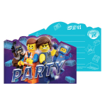 Lego Movie 2 Postcard Invitations - 6 PKG/8