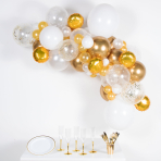 Gold & White DIY Garland Balloon Kits - 4 PKG/66