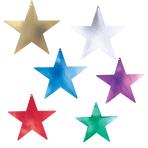 Multi Colour Foil Star Cutouts 23cm - 6 PKG/20