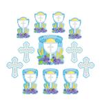 Communion Pack Blue Cutouts - 9 PKG/13