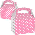 Favours Party Boxes Pink & White Hearts - 75 PC