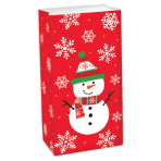 Snowman Treat Sacks 25cm x 13cm x 7.5cm - 24 PC