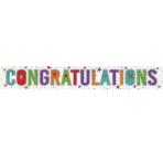 Congratulations Holographic Foil Banners 2.7m - 12 PC