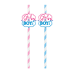 Girl or Boy Straws - 12 PKG/12