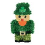 3D Leprechaun Tinsel Decoration 17cm - 12 PC