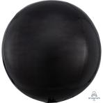 "Black Orbz Packaged Foil Balloons 15""/38cm w x 16""/40cm h G20 - 5 PC"