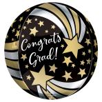 "Congrats Grad Shooting Stars Orbz Foil Balloons 15""/38cm x 16""/40cm G20 - 5 PC"