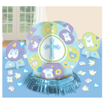 Blue Christening Table Decoratong Kits - 9 PKG/4