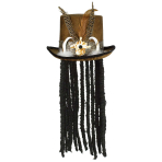 Witch Doctor Hat with Dreads - 2 PC