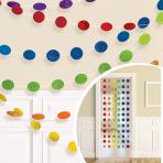 Rainbow Glitter String Decoration 2.13m - 6 PKG/6
