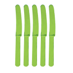 Kiwi Green Plastic Knives - 12 PKG/10