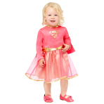Pink Supergirl Costume - Age 2-3 Years - 1 PC