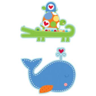 Ahoy Baby Blue Value Pack Cutouts - 6 PKG/12