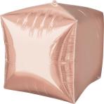 Rose Gold Cubez Unpackaged Foil Balloons G20 - 3 PC