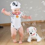 Disney 101 Dalmatians Patch Jersey Bodysuit & Hat - Age 0-3 Months - 1 PC