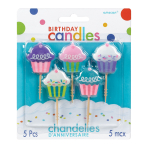 Pink Cupcake Candles 3.1cm - 12 PKG/5
