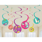 Selfie Celebration Swirl Decorations - 12 PKG/8