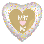 Heart Day Standard Satin Luxe XL Foil Balloons S40 - 5 PC