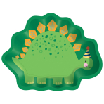 Dino-Mite Party Dinosaur Shaped Paper Plates 22cm x 17cm - 12 PKG/8