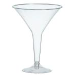 Clear Plastic Martini Glasses 235ml - 6 PKG/20