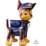"Paw Patrol Chase AirWalkers Foil Balloons 37""/93cm w x 54""/137cm h P93 - 5 PC"