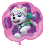 "Paw Patrol Pink Skye & Everest SuperShape Foil Balloon 25""/63cm x 23""/58cm P38 - 5 PC"