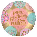 Happy Birthday Stay Fabulous Standard XL Foil Balloons S40 - 5 PC