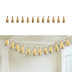 Gold Tassel Decorations 6m 12 Tassels - 12 PC