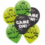 """Level Up Latex Balloons 11""""/28cm - 6 PKG/6"""