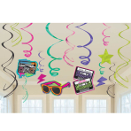Totally 80s Swirls Decorations - 6 PKG/12