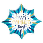 "Happy Father's Day Painted Stripes SuperShape XL Foil Balloons 35""/88cm x 29""/73cm P35 - 5 PC"