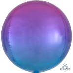 "Ombre Pink & Blue Orbz Packaged Foil Balloons 15""/38cm w x 16""/40cm h G20 - 5 PC"