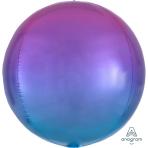 """Ombre Red & Blue Orbz Foil Balloons 15""""/38cm w x 16""""/40cm h G20 - 5 PC"""