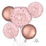 Blush Birthday Foil Balloon Bouquets P75 - 3 PC