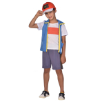Pokemon Ash Costume - Size 6-8 Years - 1 PC