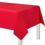 Apple Red Plastic Tablecovers 1.37m x 2.74m - 12 PC