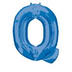 """Letter Q Blue SuperShape Foil Balloons 34""""/""""86cm P50 - 5 PC"""