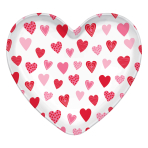 Heart Shaped Plastic Trays 39cm x 36.8cm - 12 PC