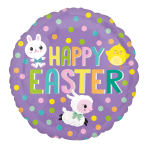 Easter Fun Standard HX Foil Balloons S40 - 5 PC
