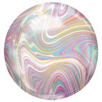 """Pastel Marblez Orbz XLTM Foil Balloons 15""""/38cm w x 16""""/40cm h G20 - 5 PC"""