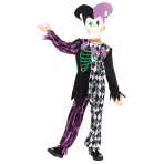 Jester Boy Costume - Age 6-8 Years - 1 PC