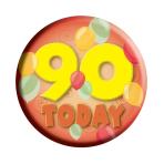 Age 90 Generic Badge  - 6.2cm - 6 PKG