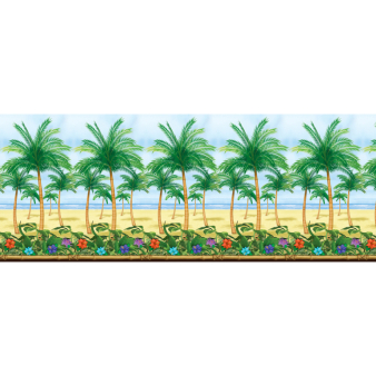 Hawaiian Palm Tree Room Scene Setters - 4 Rolls