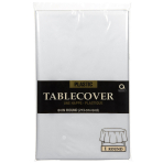 Clear Round Plastic Tablecovers 2.13m - 12 PC