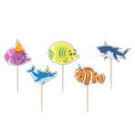 Ocean Buddies Toothpick Candles - 12 PKG/5