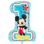 Mickey Mouse 1st Birthday SuperShape Foil Balloons P38 - 5 PC